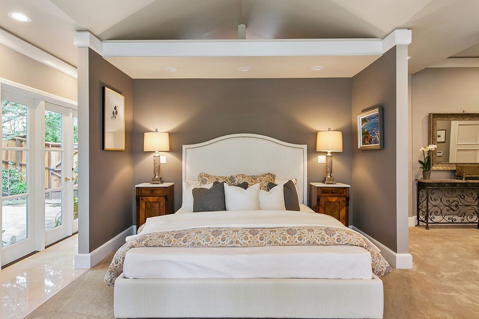 elegant and private master bedroom